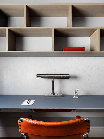 Mid-Century Modern Office and Study. Chelsea Townhouse by Woolf Interior Architecture & Design.