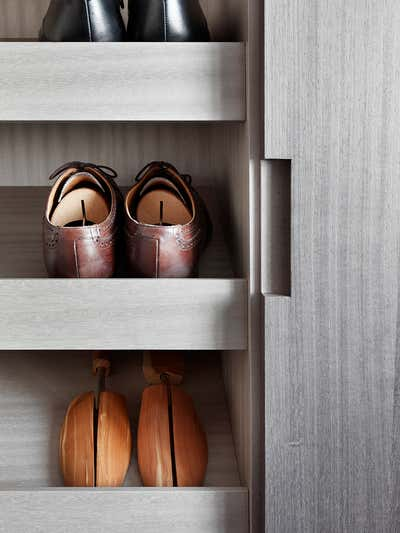 Mid-Century Modern Storage Room and Closet. Chelsea Townhouse by Woolf Interior Architecture & Design.
