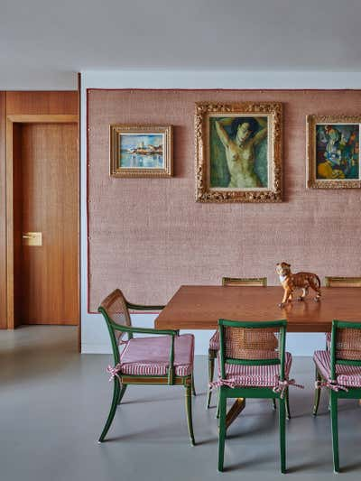 Mid-Century Modern Dining Room. Gasholders by Woolf Interior Architecture & Design.