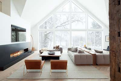 Modern Living Room. Rochester Home  by The Brooklyn Home Co..