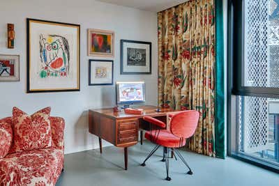 Mid-Century Modern Office and Study. Gasholders by Woolf Interior Architecture & Design.