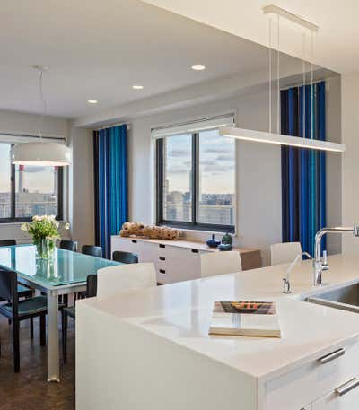 Contemporary Apartment Dining Room. UES Apartment by Fink & Platt Architects LLC.