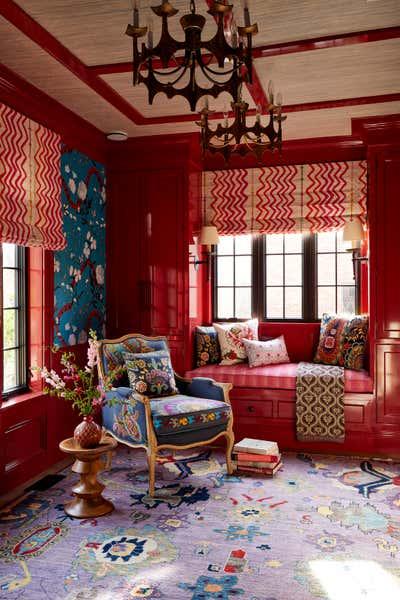 Bohemian Children's Room. Colorful Greenwich Interior Design  by Kati Curtis Design.
