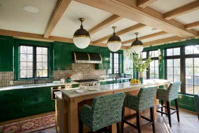 Preppy Kitchen. Colorful Greenwich Interior Design  by Kati Curtis Design.