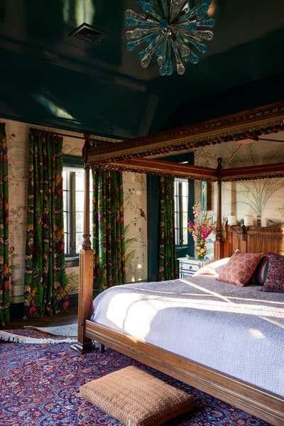 Bohemian Bedroom. Colorful Greenwich Interior Design  by Kati Curtis Design.