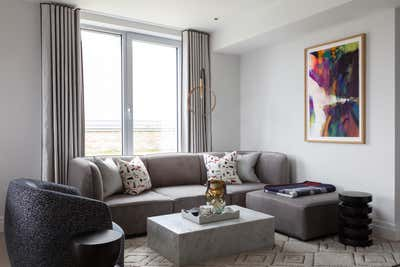 Contemporary Living Room. Park Place by Shanade McAllister-Fisher Design.