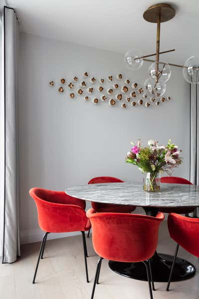 Contemporary Apartment Dining Room. Park Place by Shanade McAllister-Fisher Design.