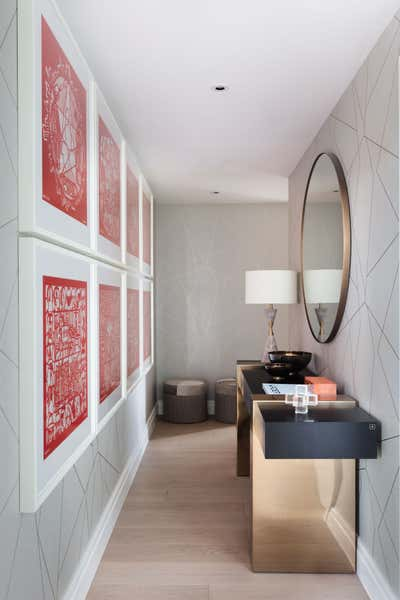 Contemporary Entry and Hall. Park Place by Shanade McAllister-Fisher Design.