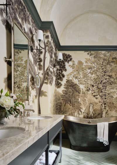 French Bathroom. Jordan Winery and Vineyards by Haidamus Interiors.