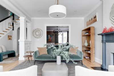 Transitional Living Room. Grove Avenue by Samantha Heyl Studio.