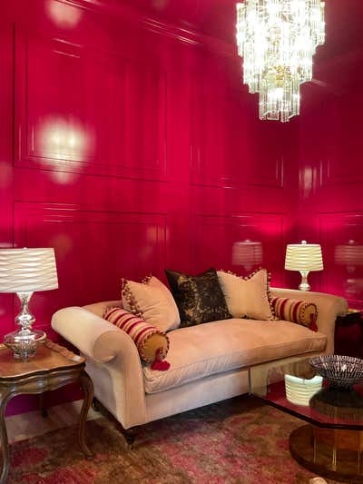 Hollywood Regency Office and Study. colettiinteriors by  Coletti Interiors, LLC.