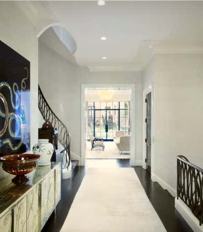 Modern Entry and Hall. Townhouse  by Michelle Bergeron Design ltd..
