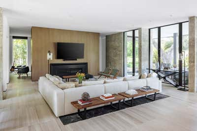 Modern Living Room. Tarpon Bend Residence by Strang Architecture.