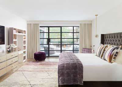 Maximalist Bedroom. Chelsea Loft by Evan Edward Interiors.