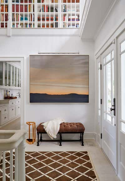 Arts and Crafts Entry and Hall. Hamptons Residence by CARLOS DAVID.