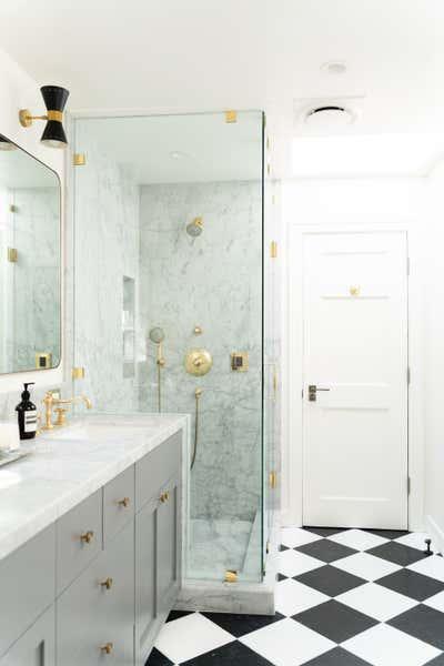 French Bathroom. Sherman Canal by Mallory Kaye Studio.