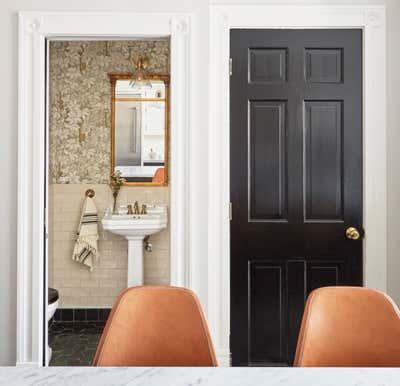 Craftsman Bathroom. Blackstone by KitchenLab   Rebekah Zaveloff Interiors.