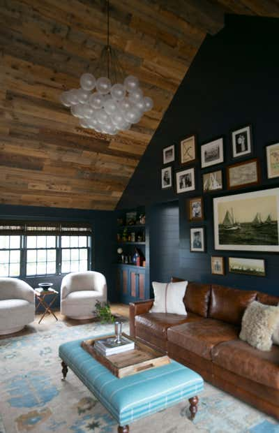 Transitional Beach House Open Plan. BELLPORT, NY by Jaimie Baird Design.