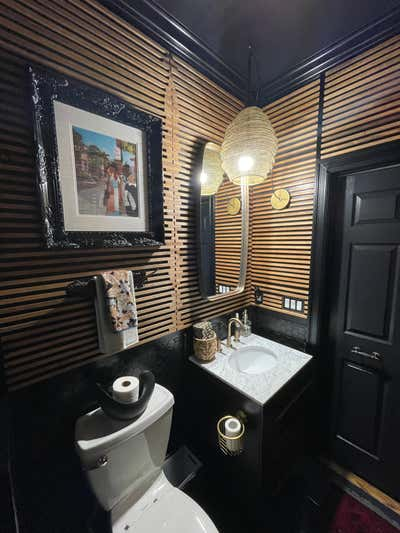 Mid-Century Modern Bathroom. Project Destination Guest Bathroom by Kingston-Bryce Interiors.
