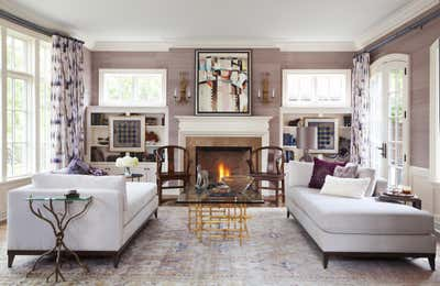 Contemporary Living Room. Traditional with a Twist by Andrea Schumacher Interiors.