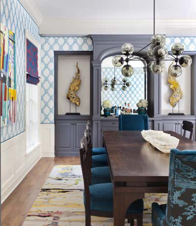 Contemporary Dining Room. Traditional with a Twist by Andrea Schumacher Interiors.