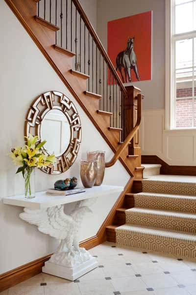 Contemporary Entry and Hall. Traditional with a Twist by Andrea Schumacher Interiors.