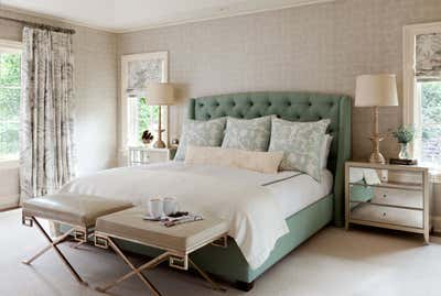 Contemporary Bedroom. Traditional with a Twist by Andrea Schumacher Interiors.
