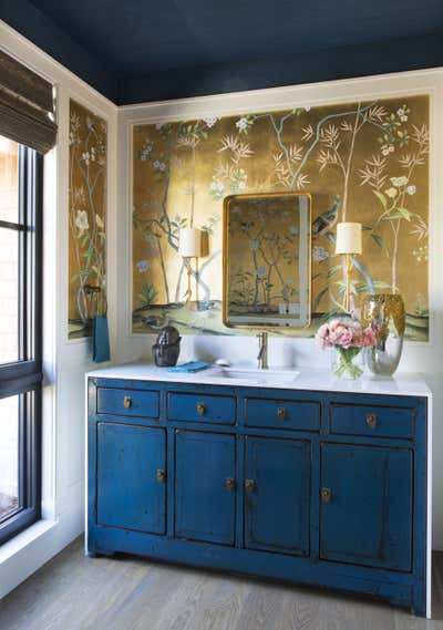 Coastal Bathroom. Lakeside New Build by Andrea Schumacher Interiors.