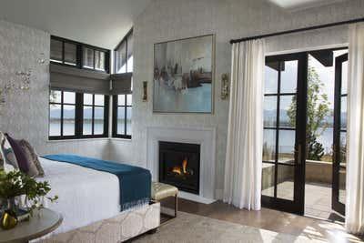 Coastal Bedroom. Lakeside New Build by Andrea Schumacher Interiors.