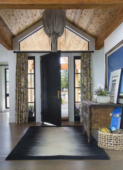 Coastal Entry and Hall. Lakeside New Build by Andrea Schumacher Interiors.