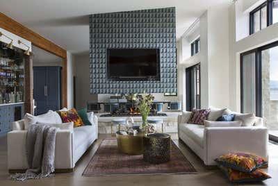 Coastal Living Room. Lakeside New Build by Andrea Schumacher Interiors.
