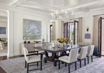 Bohemian Dining Room. Family Retreat on Jupiter Island by Ferguson & Shamamian Architects.