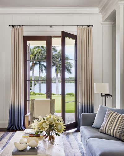 Bohemian Living Room. Family Retreat on Jupiter Island by Ferguson & Shamamian Architects.