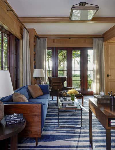 Bohemian Office and Study. Family Retreat on Jupiter Island by Ferguson & Shamamian Architects.