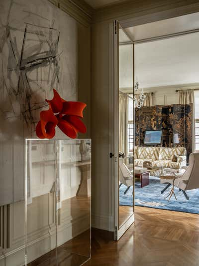British Colonial Entry and Hall. Knightsbridge, Moscow by Irakli Zaria Interiors.
