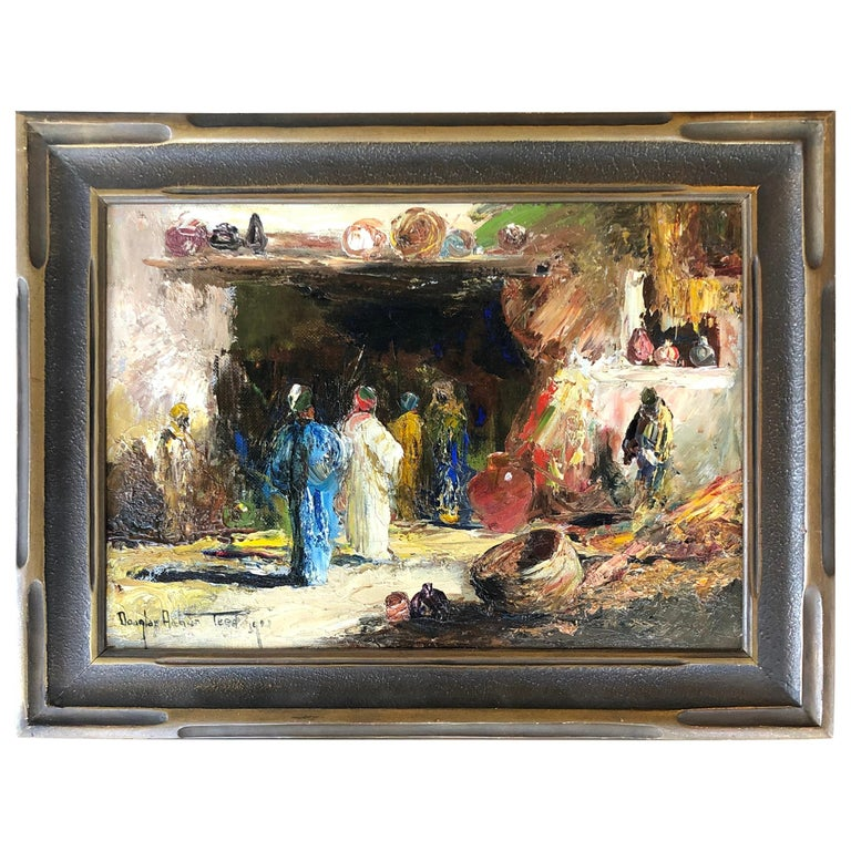 """""""Traders at the Market"""" Orientalist Painting by Douglas Arthur Teed For Sale"""