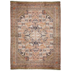 Traditional Afghan Tribal Large Area Rug, Handmade Multicolored Wool Carpet