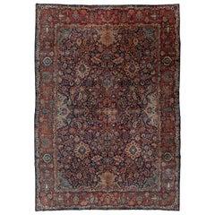Traditional Antique Kashan Rug