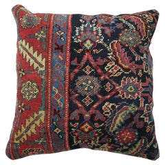 Traditional Antique Navy Persian Rug Pillow