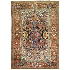 Traditional Antique Persian Heriz Rug