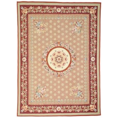 Traditional Chintz Area Rug with French Aubusson Style and Savonnerie Design