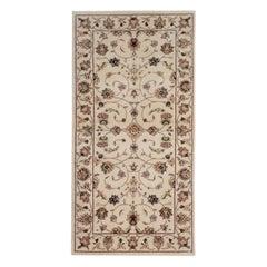 Traditional Area Rugs, Cream Handmade Carpet, Floor Oriental Rugs for Sale
