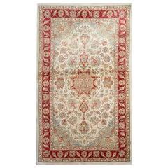 Traditional Area Rugs, Handmade Carpet Cream Rug, Floor Oriental Rug Sale