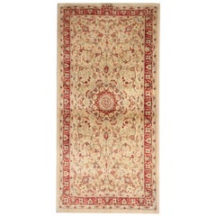 Traditional Area Rugs, Indian Carpet Gold Rug, Floor Rugs for Sale Red Border