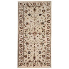 Traditional Area Rugs, Indian Rug Cream Carpet, Floor Rugs for Sale Beige Border