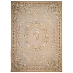 Traditional Aubusson Style Rug Tapestry Area Rug Handwoven Wool