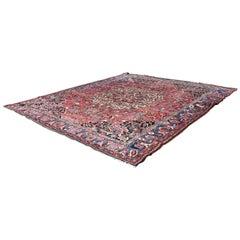 Traditional Bakhtiari Wool Iranian Persian Area Rug Carpet Rectangular Red