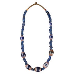 Traditional Bamileke 7 Layer Chevron Trade Bead Necklace