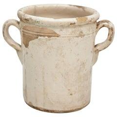 Traditional Beige Lacquered Rustic Spanish Ceramic