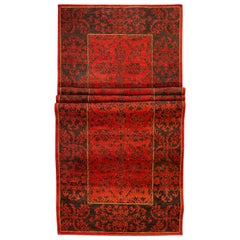 Traditional Brown and Red Runner